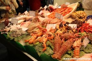 Seafood, La Boqueria, Barcelona