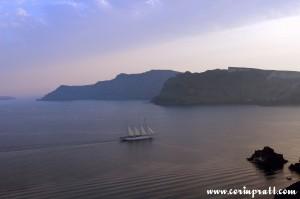 Ship, Oia Sunset, Santorini