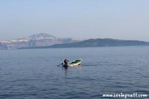 Boat, Thirassia, Santorini