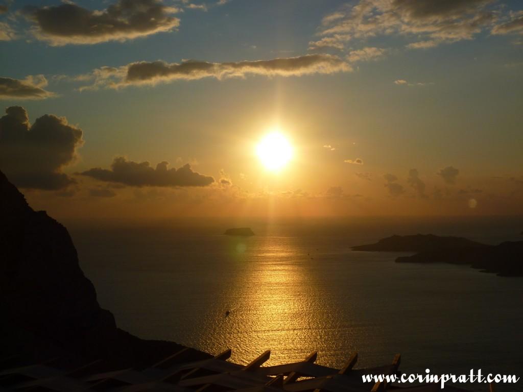 Volcano Sunset, Santorini