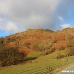 The foot of Loughrigg Fell, Lake District, mountains