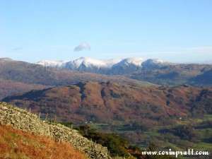 View from Lingmoor Fell, Lake District, mountains