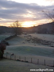 Frosty sunrise in Elterwater, Lake District