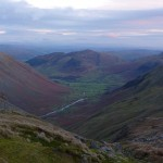 Great Langdale Valley from Rossett Pike, Lake District, mountains
