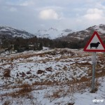 Snowy Langdale Pikes from above Elterwater, Lake District, mountains