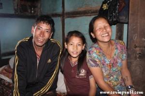 Family in Ravangla, Sikkim, India