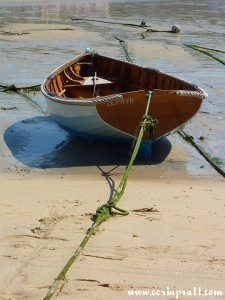 Boat in St Ives Harbour, Cornwall