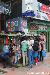 Busy stall, MG Marg, Gangtok, Sikkim