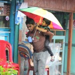 Umbrella for two, Yuksom, Sikkim, India