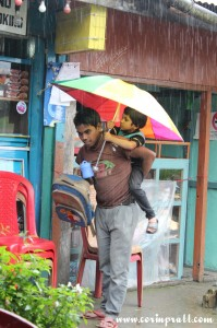 Umbrella for two, Yuksom, Sikkim, India