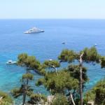 Coast, Trees, Yacht, Capri, Italy