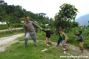 Children playing, Tashiding, Sikkim, India