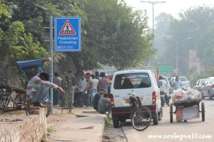 Roadside stall, New Delhi, road