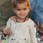 Little girl, New Delhi, road