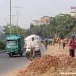 Traffic, bicycle, New Delhi, road