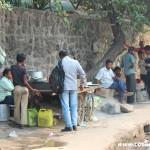 Roadside car stall, New Delhi, road