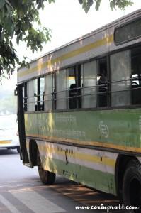 Public bus, New Delhi road